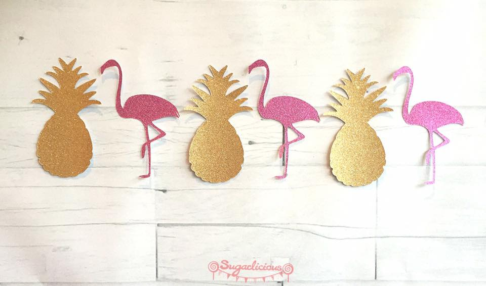 pineapple and flamingo garland - sugarlicious