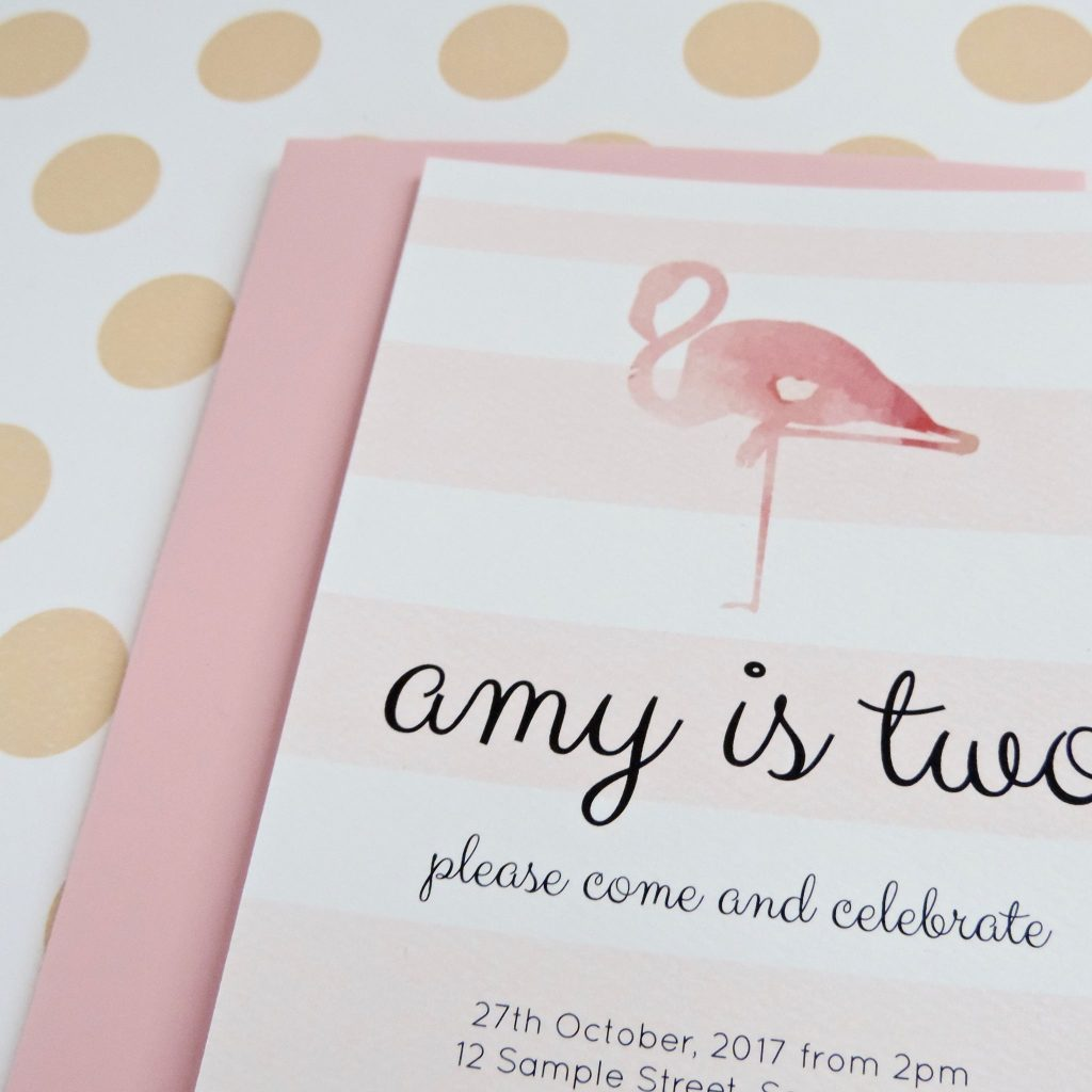 flamingo party invitation - emma smith stationery