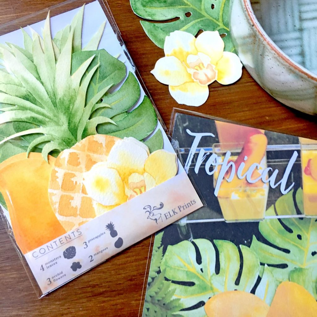 tropical party decorations - elk prints