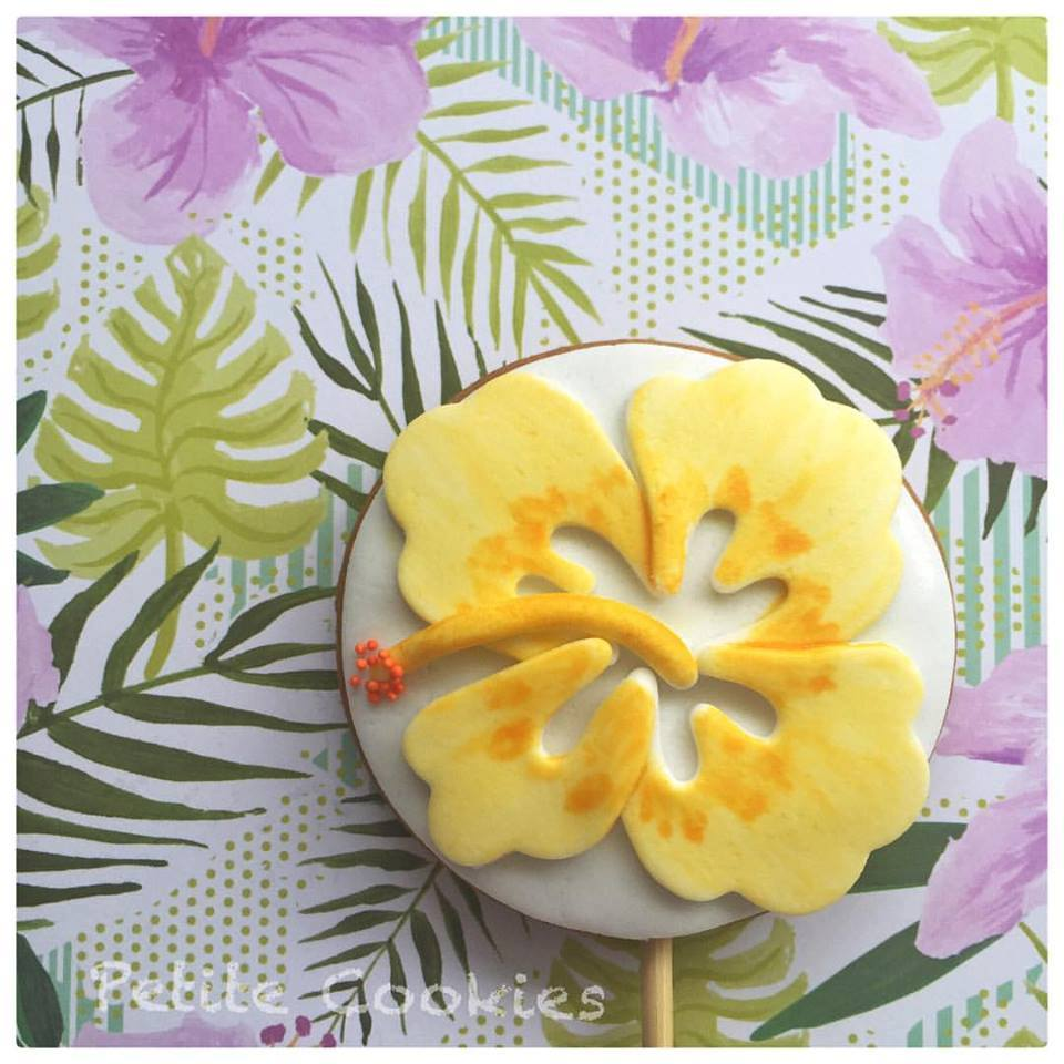 tropical themed cookies - petite cookies melbourne