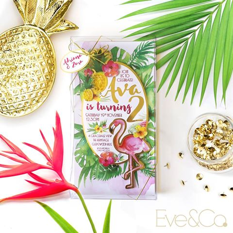 tropical party invitation - eve and co