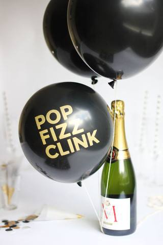 pop fizz clink balloons - ruby rabbit partyware