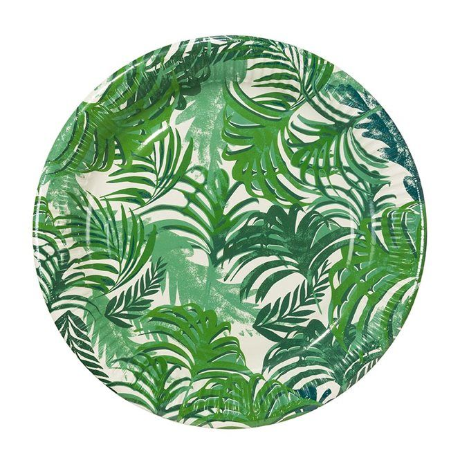 tropical party plates - favor lane party boutique