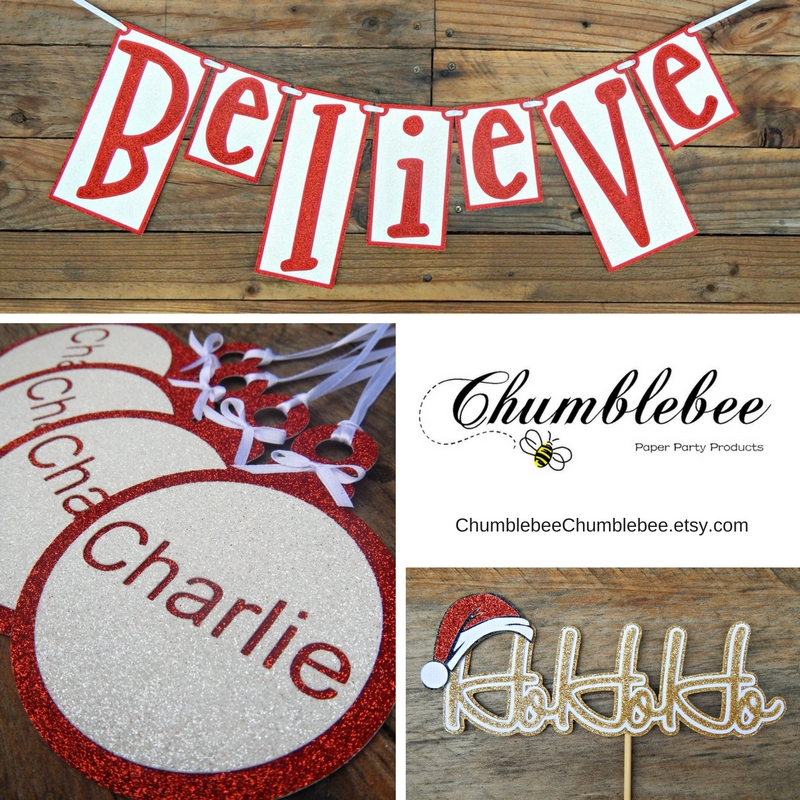 Christmas garland, tags and toppers - Chumblebee