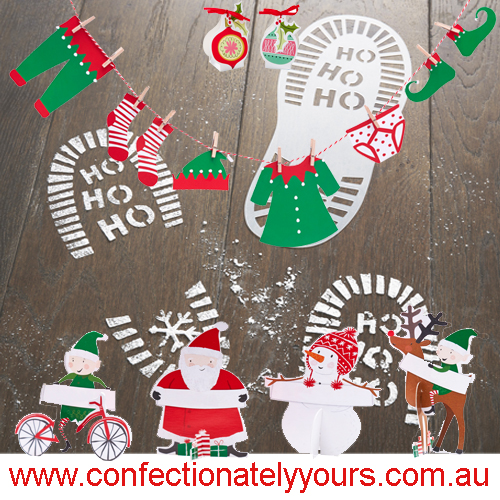Christmas snow stencils - Confectionately Yours