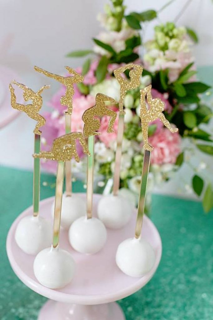 Gymnastic Cake Toppers - Glistening Occasions