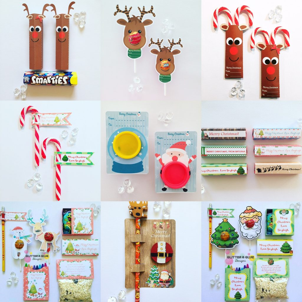 Christmas school gifts, gift tags and labels - Glitter and Glue Designs