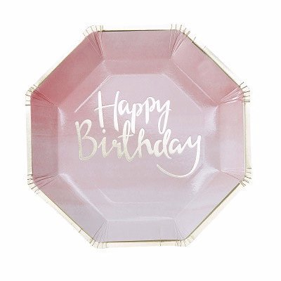 Ombre pink party plates - Ruby Rabbit Partyware