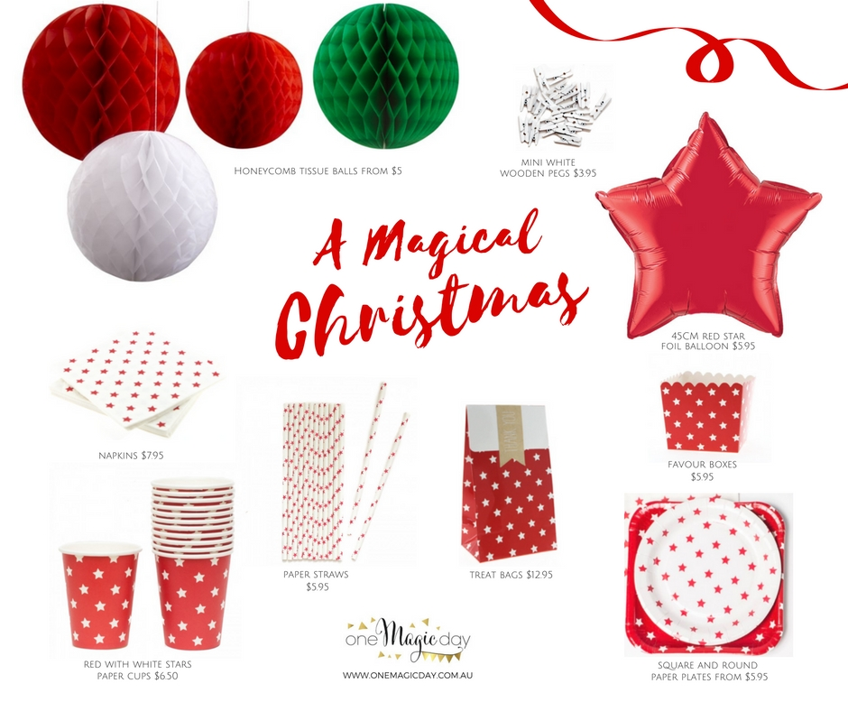 Christmas partyware - One Magic Day