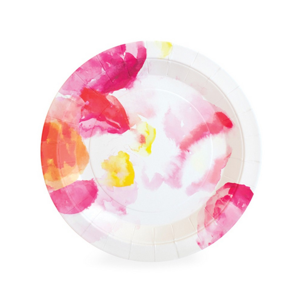 floral party plates - the little event co
