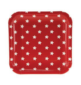 Red with white stars plate - One Magic Day