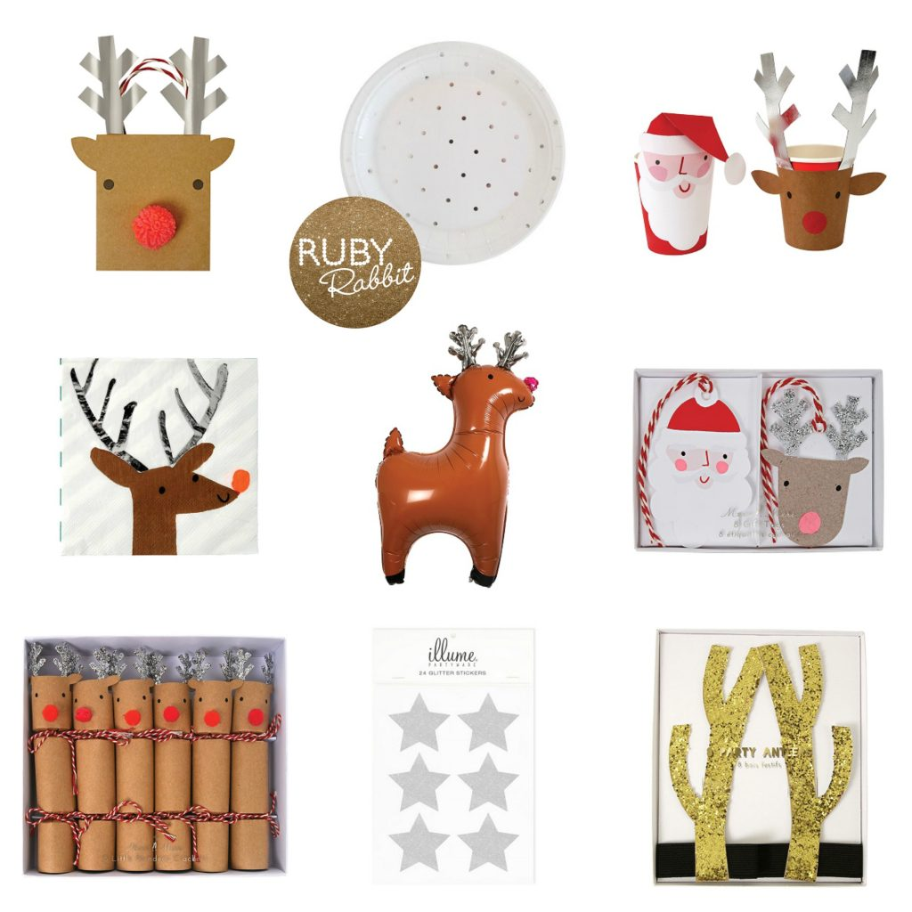 Christmas partyware - Ruby Rabbit Partyware