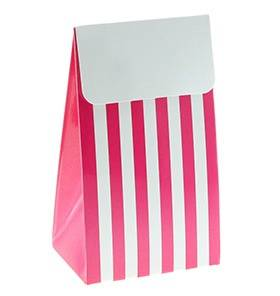 Raspberry stripe favour bags - Love The Occasion