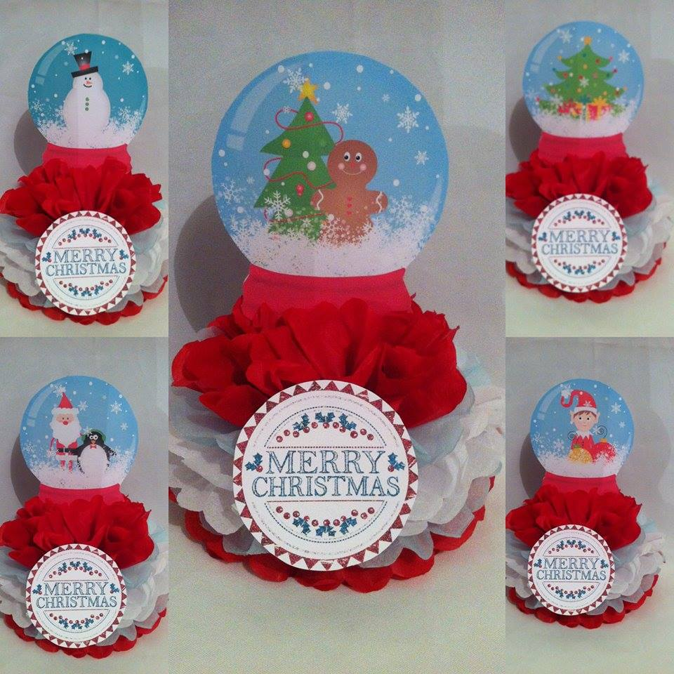 Christmas party poms - Theme It Party Boxes