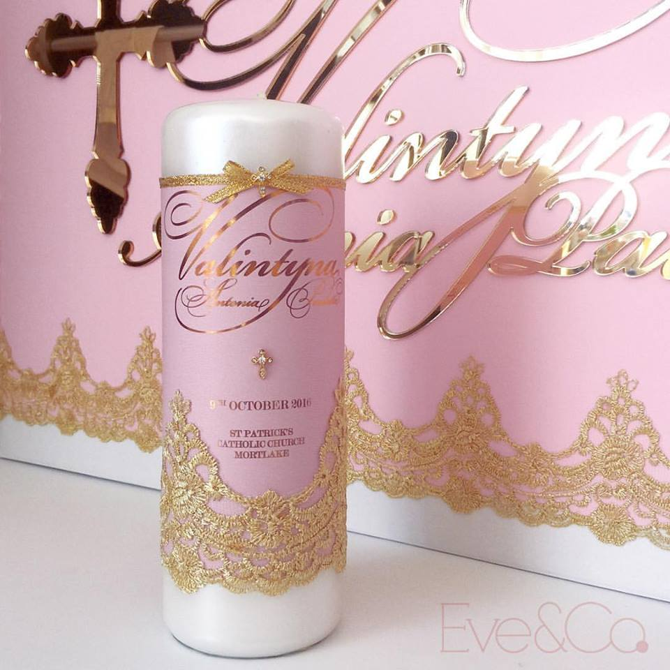 christening candle - eve & co