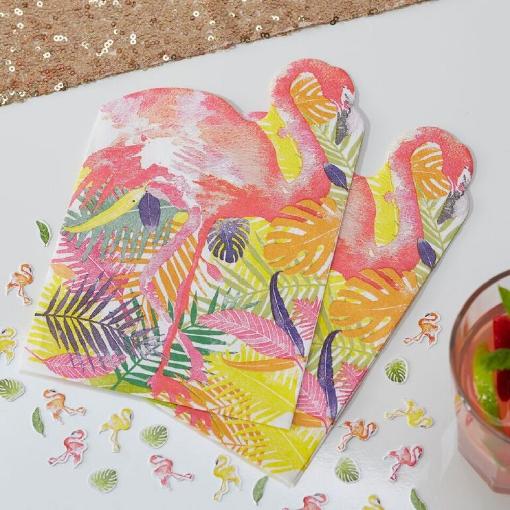 flamingo napkins - confectionately yours