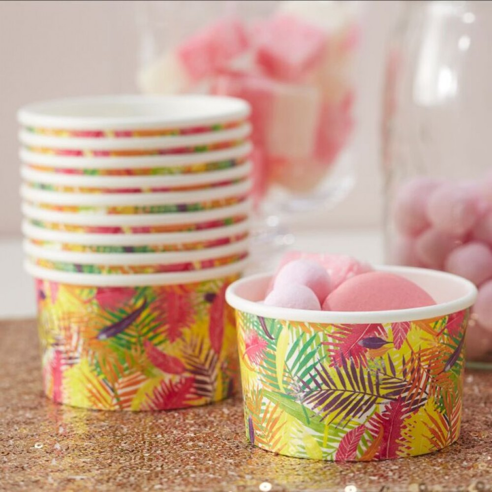 flamingo ice cream cups - confectionately yours