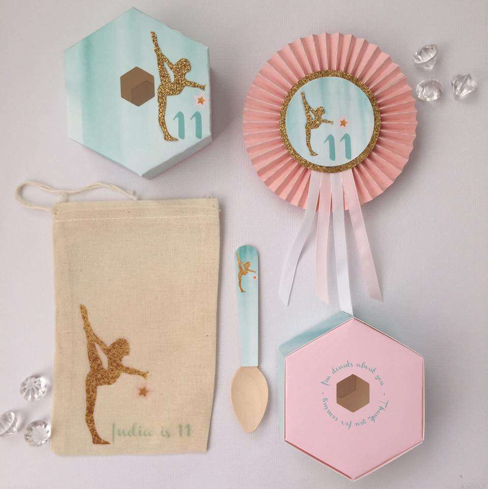 Gymnastics Party Favours - Glitter & Glue Designs