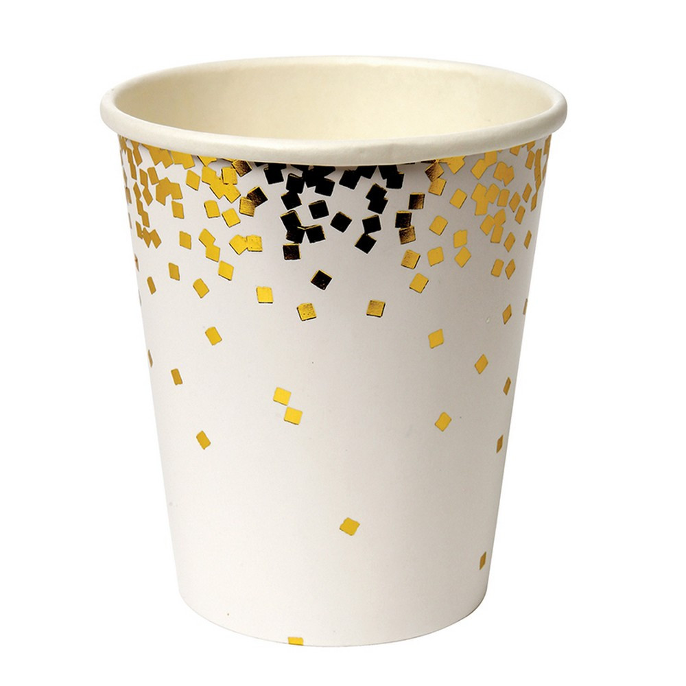 gold confetti cups - the little event company