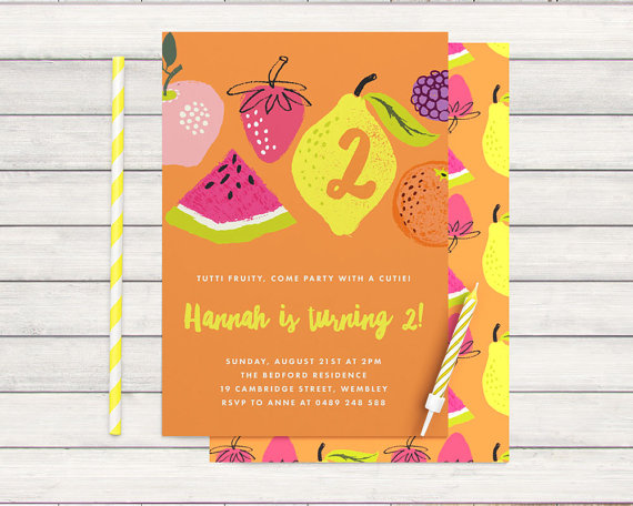 custom tropical party invitation - bonjour berry