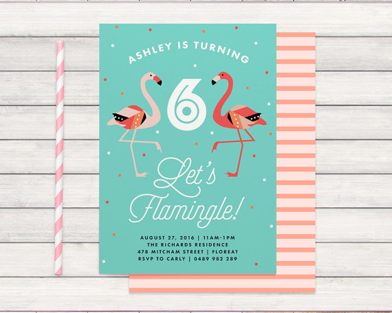 flamingo party invitation - bonjour berry