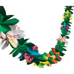 tropical flower garland - fantasy kids parties