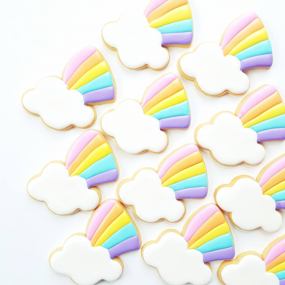 rainbow cookies - frosted by nicci