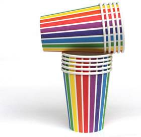 rainbow tableware - love the occasion