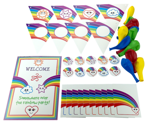 Rainbow party pack - Party Pax
