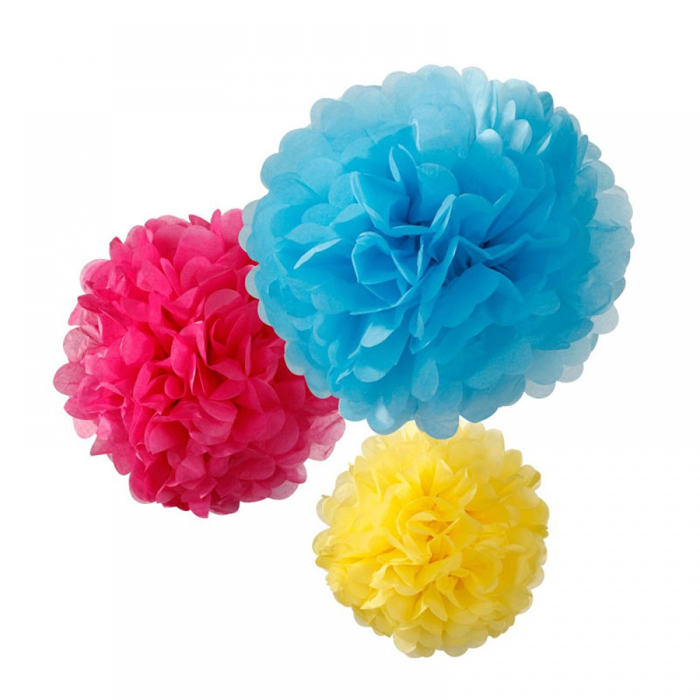 Bright pom pom mix - The Little Event Company