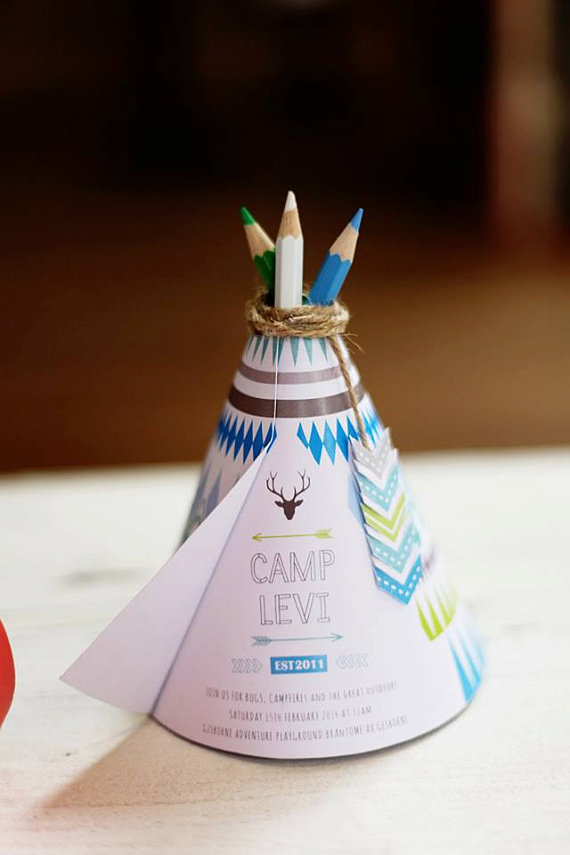 tee pee invitation