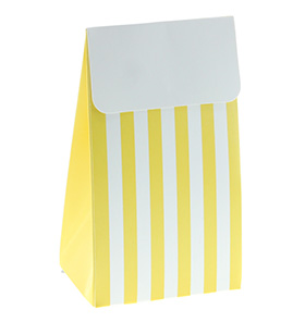 yellow party favor bags