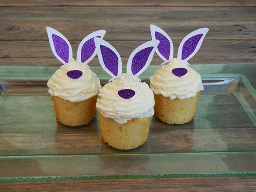 bunny themed cupcake toppers