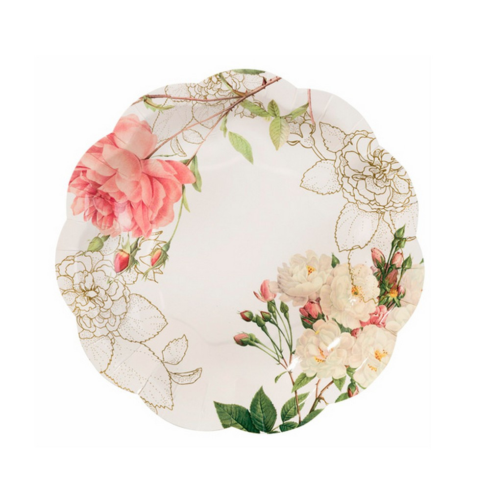 flower paper plates