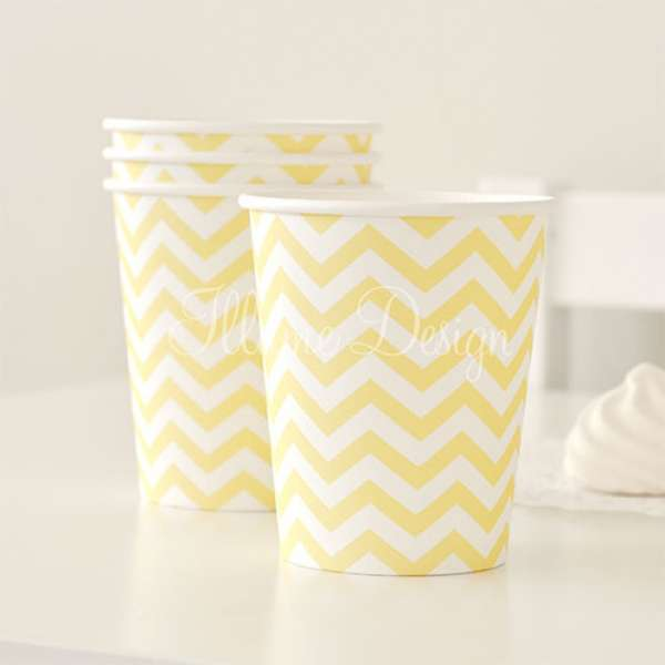 yellow chevron cups