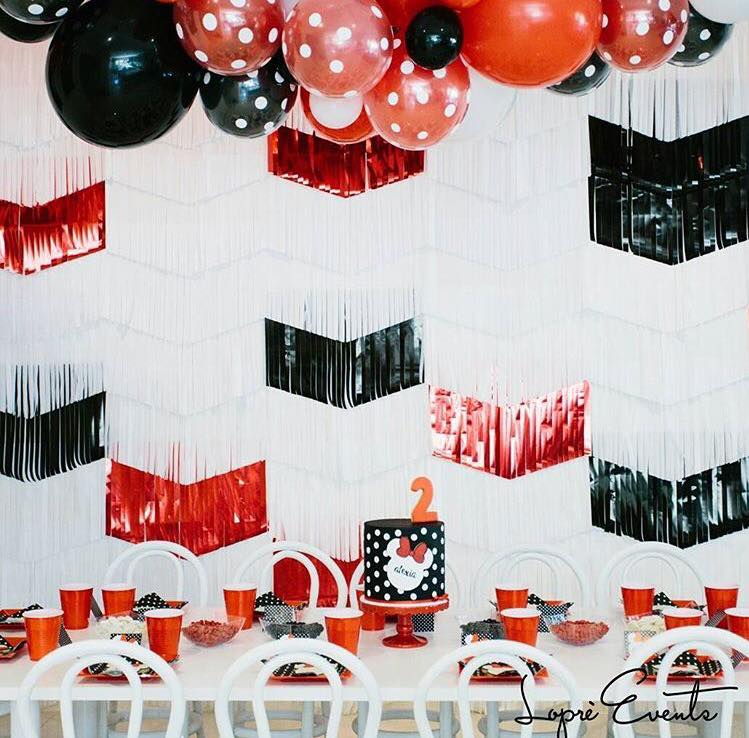tassel wall backdrop