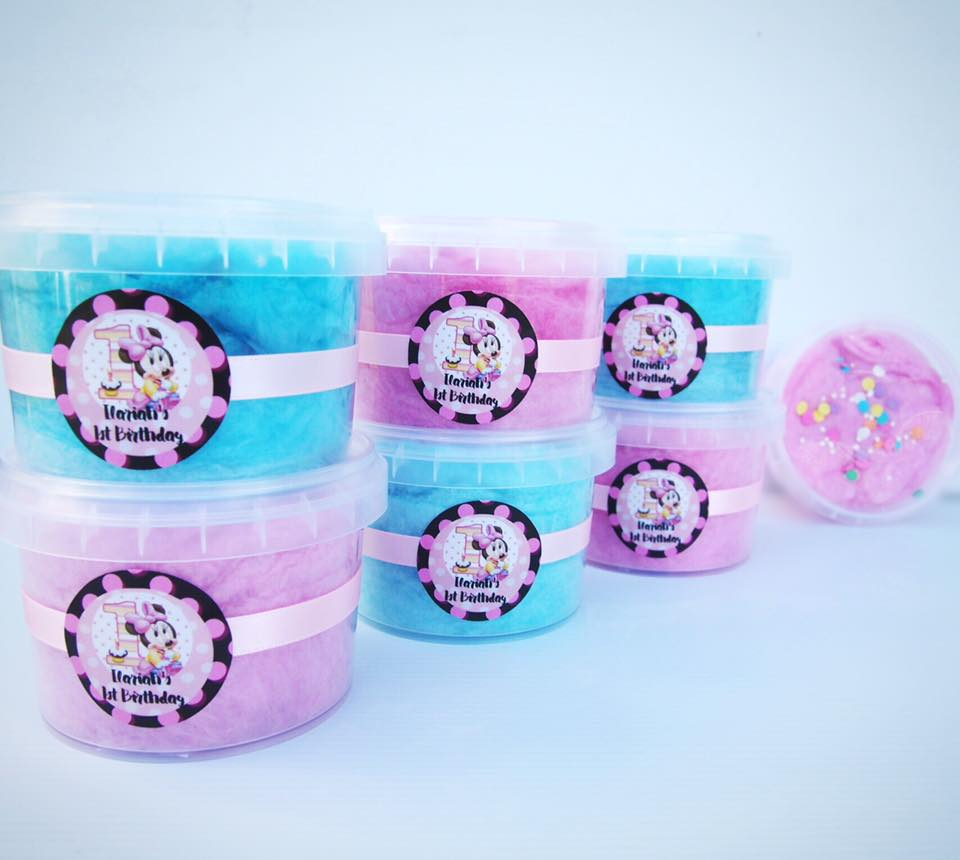 fairyfloss party favours