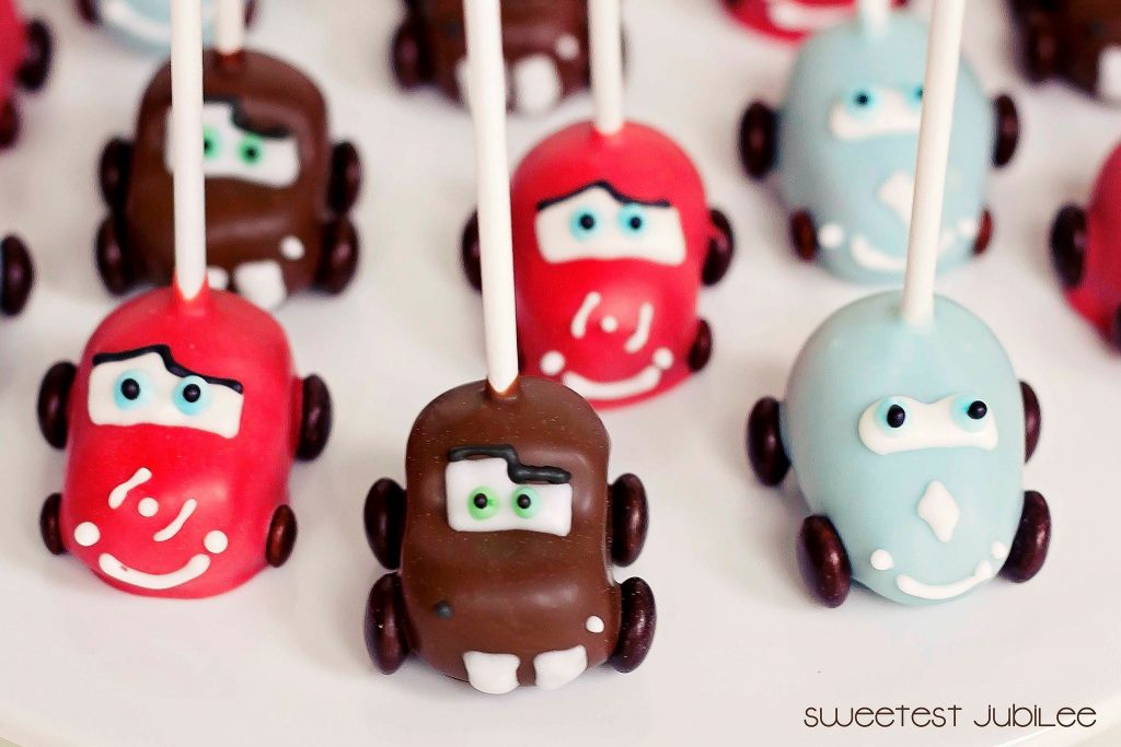 cars party cake pops
