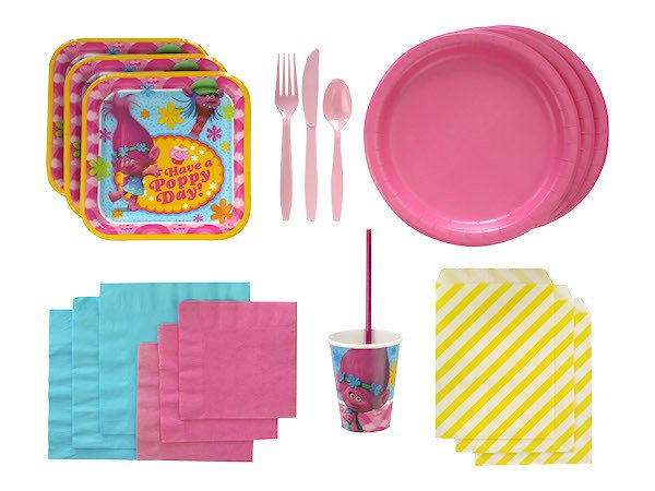 trolls party tableware
