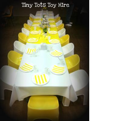 yellow kids chairs for hire