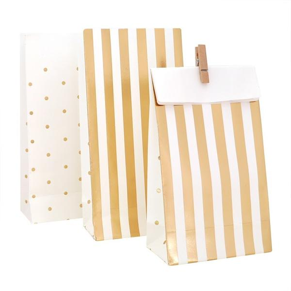 gold party bags