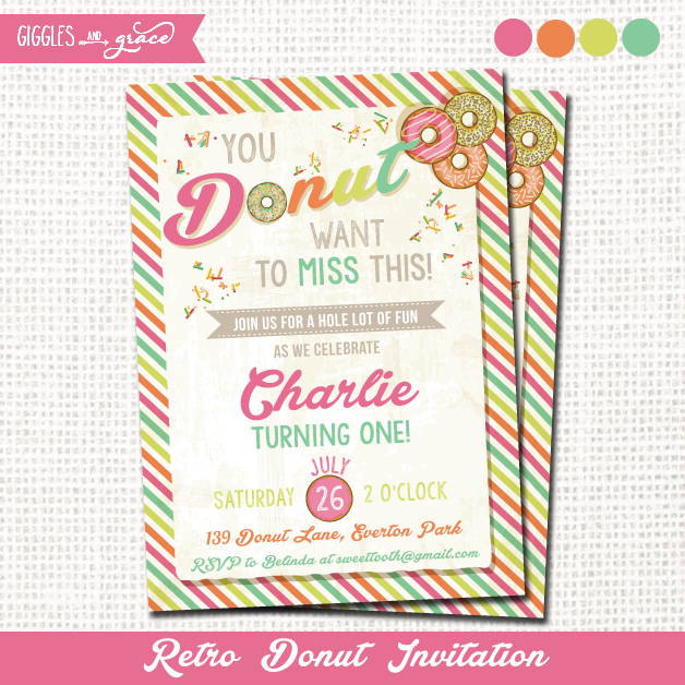 donut party invites