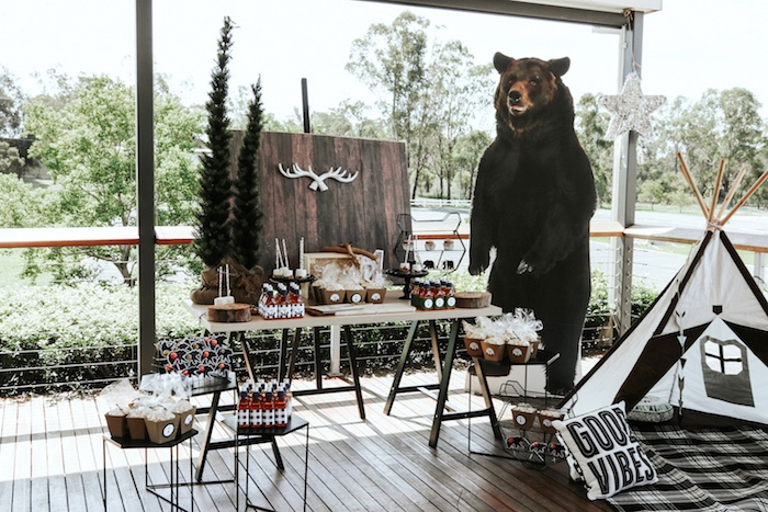 wild one bear adventure party theme