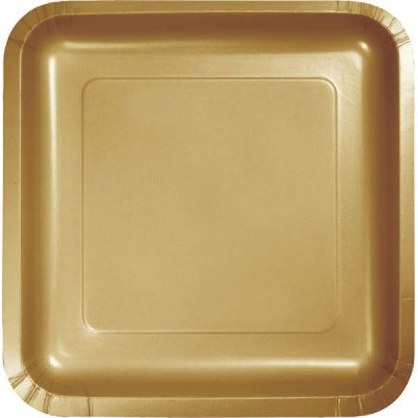 gold party tableware