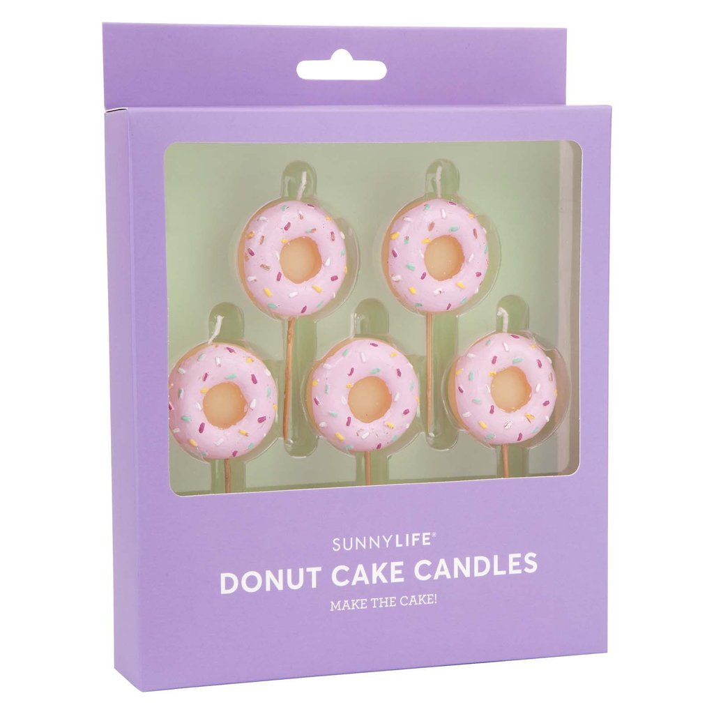 donut cake candles