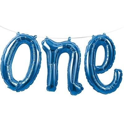 blue one balloon