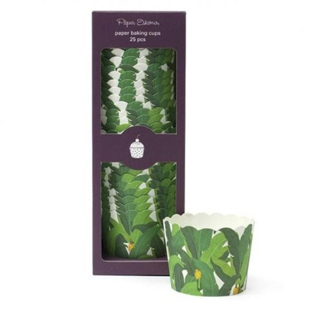 tropical baking cups