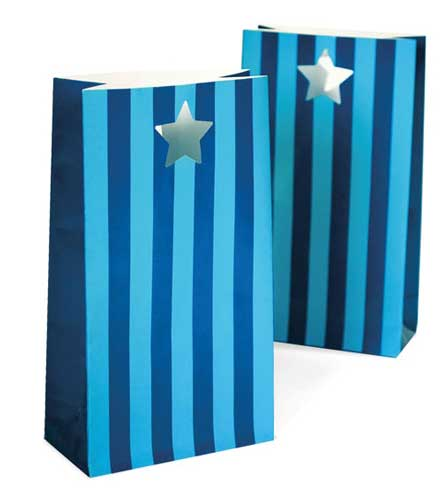 blue party favour bags
