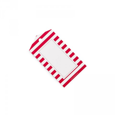 red striped gift tags