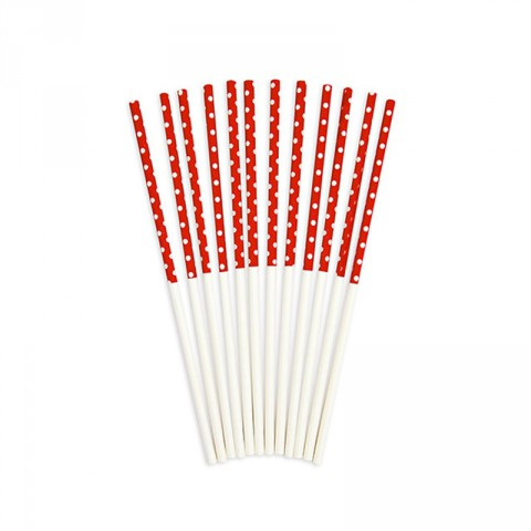 red and white partyware